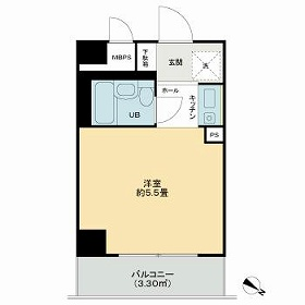 ライオンズマンション横浜第3・507号室の間取り