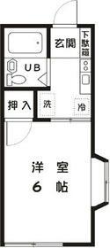 アリスコーポ町田・A106号室の間取り