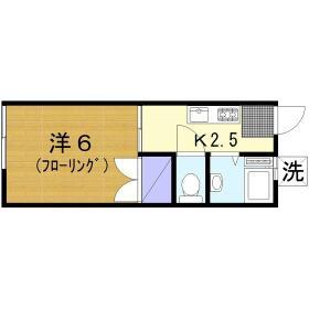 新井ハイツ 104号室の間取り