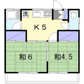 富士見荘・201号室の間取り