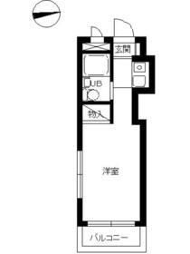 スカイコート横浜港南台 205号室の間取り