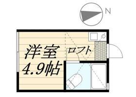 ピュアハウス藤棚三番館・0102号室の間取り