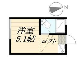 ピュアハウス藤棚三番館・0103号室の間取り