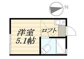 ピュアハウス藤棚三番館・0105号室の間取り