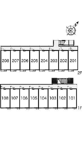 レオパレス坂之台ビレッジ 206号室のセキュリティ