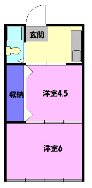 松山コーポ 102号室の間取り