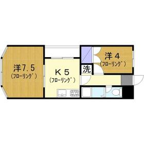 ファミーユ桜ヶ丘・202号室の間取り