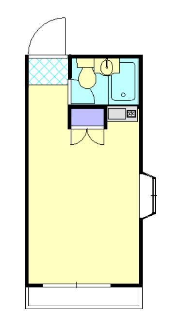 第1桜コーポ 103号室の間取り