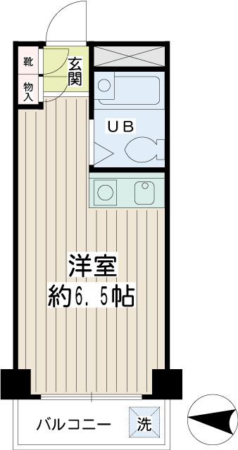 NYコート金沢・0203号室の間取り