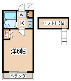 MKハウス 203号室の間取り