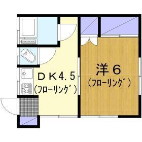 鈴木ハイツ・202号室の間取り