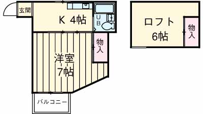 コーポミヨシ富岡・205号室の間取り