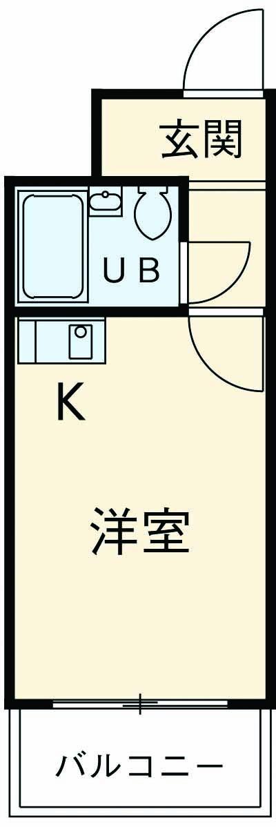 スカイコート横浜弘明寺・303号室の間取り