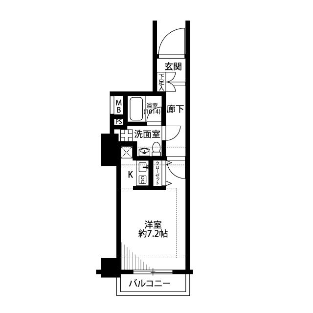 プレール・ドゥーク西横浜・1005号室の間取り