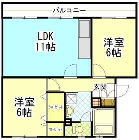町田コープタウン7号棟・403号室の間取り