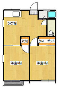 ファミーユイシハラ A棟・101号室の間取り