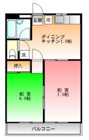 ミツコマンション・202号室の間取り