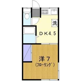 第1宮城荘 205号室の間取り