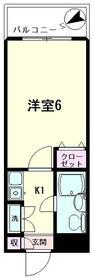 日神パレス杉田A 103号室の間取り