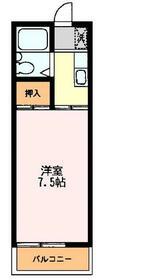 K・Kハイツ・206号室の間取り