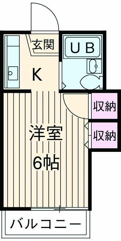 山荘村田 202号室の間取り