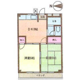 ビクトリーマンション吉山・303号室の間取り