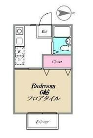 エステート長津田I(ナガツダワン)・206号室の間取り