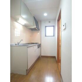 メゾンヨーワ 1-B号室のキッチン