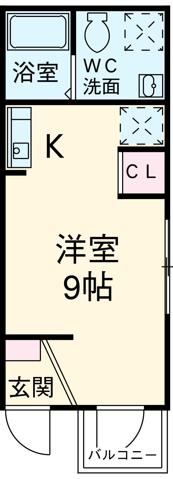 ペルショワール金沢八景・201号室の間取り