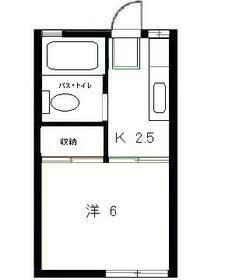 鶴川ハイツ・202号室の間取り