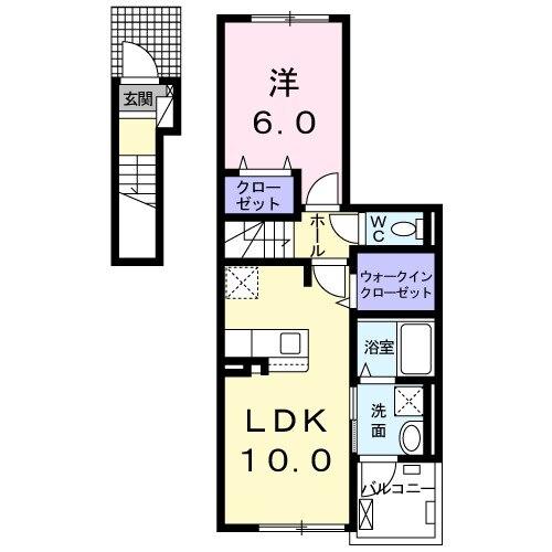 ティータウン Ⅱ・02050号室の間取り