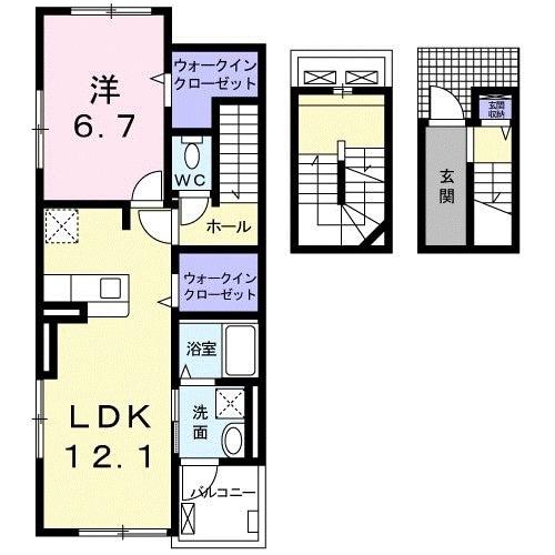 ティータウン Ⅱ・03060号室の間取り