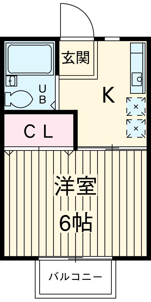 エステート長津田Ⅰ・203号室の間取り