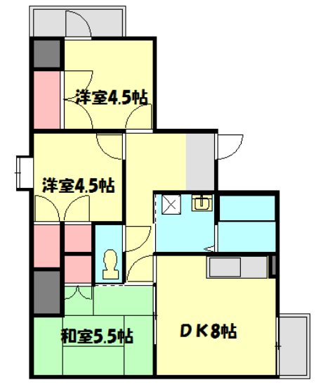 CITY OASIS IMAMURA 201号室の間取り
