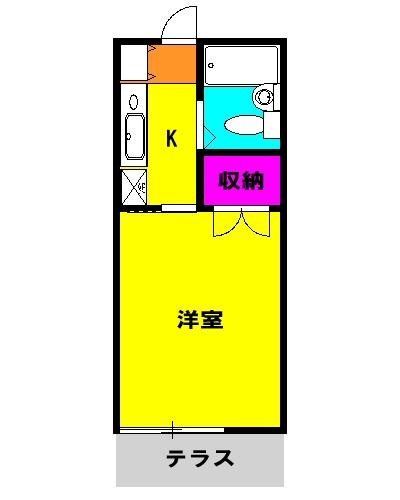 スカイ平塚 102号室の間取り