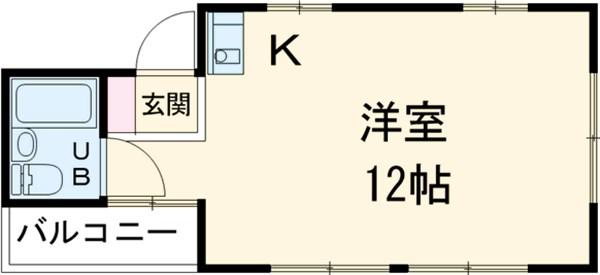 小川アパートB・201号室の間取り