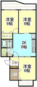 センチュリーハイツ町田16号棟・202号室の間取り