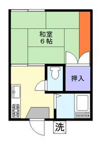 倉田ハイツ 103号室の間取り