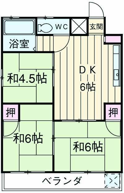 あきらマンション 303号室の間取り
