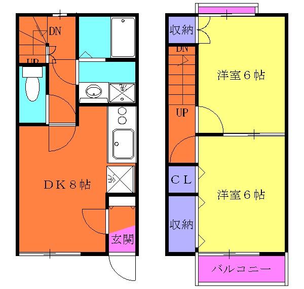 DUPLEX SHINZO Ⅰ・103号室の間取り