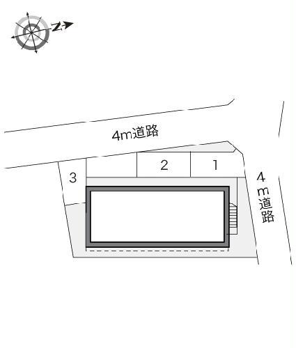 レオパレスヴァンテアン 103号室の駐車場