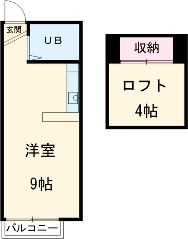 パレスNOJIMA Ⅰ・203号室の間取り