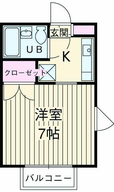 第3コーポ米倉・201号室の間取り