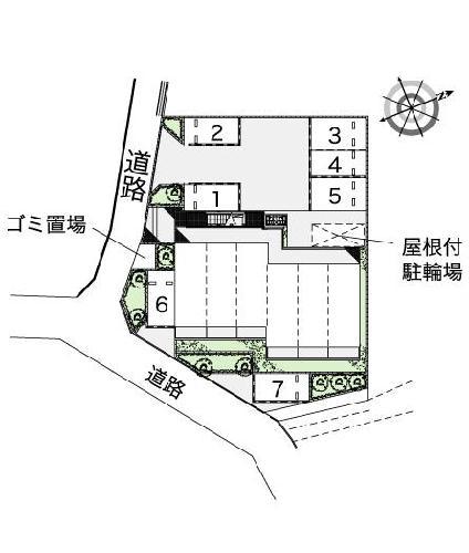 レオパレスKAZUⅢ 103号室のバルコニー