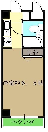 フラッツ東湘・603号室の間取り