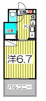 パティオ坂巻・213号室の間取り