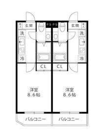 LOC'S SHINYURIGAOKA・103号室の間取り