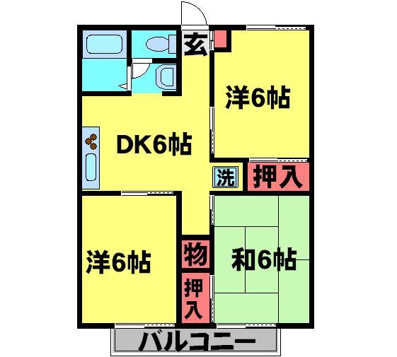 パールハイツ岡田41・203号室の間取り