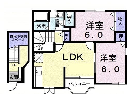 ハウス・リバーサイド・02030号室の間取り