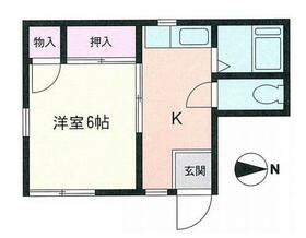 柳川アパート・202号室の間取り